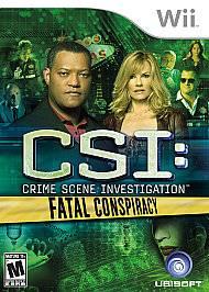 CSI Crime Scene Investigation    Fatal Conspiracy Wii, 2010