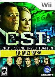 CSI Crime Scene Investigation Deadly Intent Wii, 2009