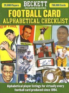Beckett Football Alphabetical Checklist Vol. 5 2006, Paperback