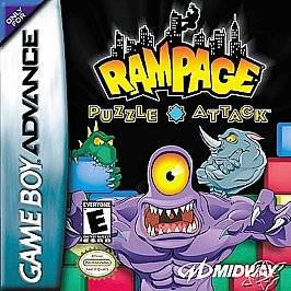 Rampage Puzzle Attack Nintendo Game Boy Advance, 2001