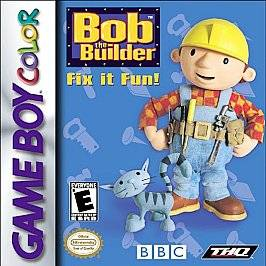 Bob the Builder Fix It Fun Nintendo Game Boy Color, 2000