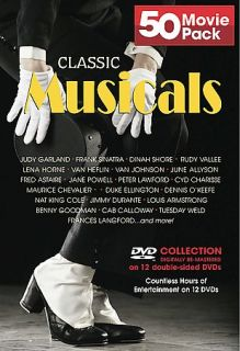 Classic Musicals 50 Movie Pack DVD, 2005, 12 Disc Set