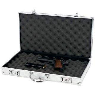 Aluminum Framed Locking Gun Pistol Case Handgun Lock Box Hard Storage