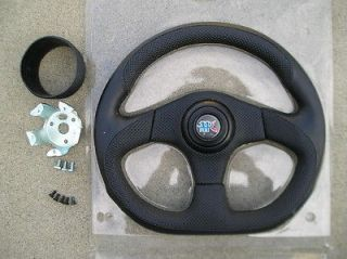 Newly listed APC 3 SPOKES D shape 13.5  Steering wheel + 2  spacer