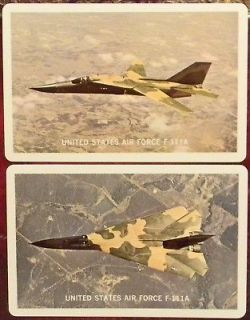 US AIR FORCE F 111A AARDVARK VINTA​GE SINGLE SWAP PLAYING CARDS