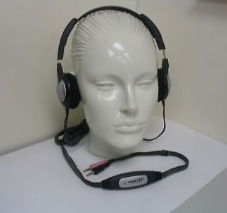 100 with 2 boomless microphones Computer Headset P/N Audio 355 / PC131