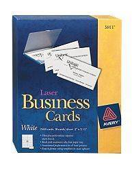 Side Printable Clean Edge® Business Cards for Laser Printers Ivo