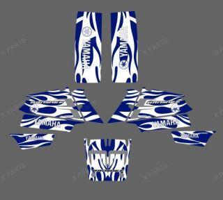 3M BLUE WHITE DECALS STICKERS Graphics Kits fo YAMAHA BANSHEE 350 ATV