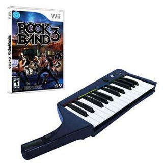Mad Catz   RB3969430N34/02/1 Wii Rock Band 3 Keyboard /Software