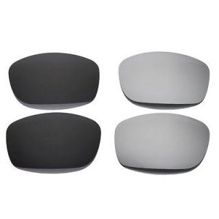 New Walleva Polarized Black + Titanium Lenses For Oakley Fives Squared