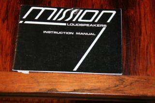 Mission Loudspeakers Speakers Owners Manual *Original*
