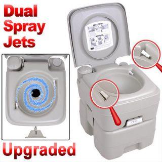 Portable 5 Gallon Toilet 2 Sprays Flush Camping Travel Outdoor/Indoor