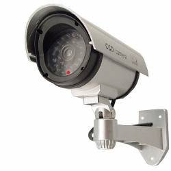 Pack) Outdoor Fake Dummy Security Camera LIGHT Surveillance LED silver