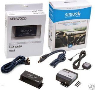 KENWOOD SIRIUS SATELLITE RADIO TUNER AND ADAPTER PACKAGE NEW KCA SR50