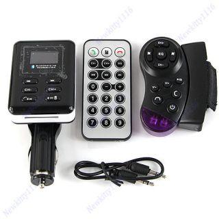 Car Kit  Player FM Transmitter Steering Wheel USB SD MMC Card