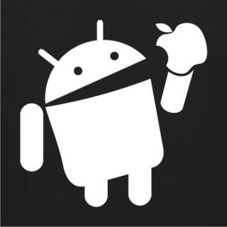 Android Eats Apple *NEW* Funny T SHIRT 5COLORS Sz Sm XL