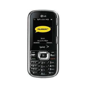 Sprint LG Rumor 2 Cell Phone CDMA Camera Slide Dark Grey/Black Used