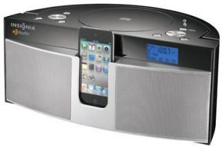 Insignia Boombox CD Player with HD Radio iPod iPhone Dock Station