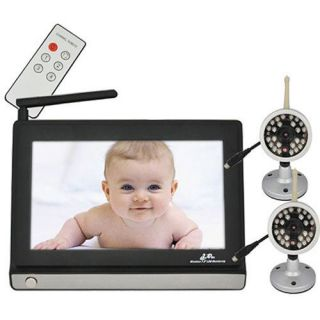 2x Cameras 2.4GHz 7 LCD Wireless Video Baby Monitor Night Vision