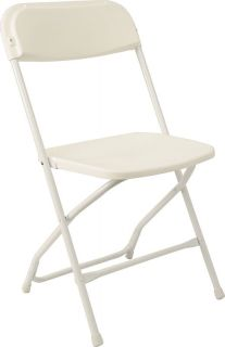 48 New Folding Chairs White Church Restaurant Party Reception Hall
