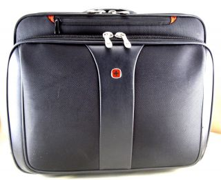Swiss Army Black Rolling Laptop Computer Case Travel Bag 30