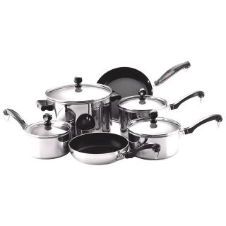 Classic Stainless Steel 10 Piece Cookware Set with Lifetime Warranty