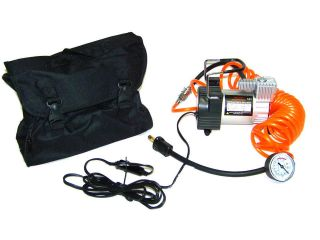 HEAVY DUTY ALL METAL MINI AIR COMPRESSOR 12V TIRE INFLATOR WITH GAUGE