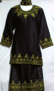 African Women Clothing Skirt Suit Black Gold One Size NotCome M L XL