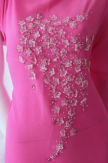 Vietnamese Traditional Dress Ao Dai Bridal Wedding Gown Pink 3D