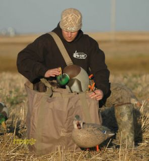 AVERY GREENHEAD GEAR GHG 6 SLOT FULL BODY DUCK DECOY BAG FIELD KHAKI
