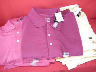 ST. JOHNS BAY MENS BIG & TALL S/S HERITAGE PIQUE POLO SHIRT 3XLT 4XLT
