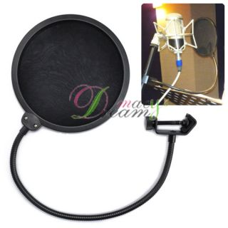 Studio Microphone Mic Wind Screen Pop Filter Mask Shied #C