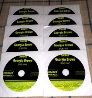 SGB TOOLBOX 10 DISC SET KARAOKE CDGs 200+ SONGS NEW 4 Your CD+Graphics