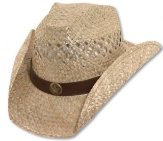 Bret Michaels Western Cowboy Straw Hat Star Concho Be a Country Star