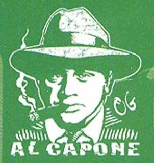 Al Capone T Shirt Gangster Smoking Silhouette Funny Tee