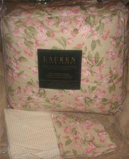RALPH LAUREN Cherry Blossom Floral QUEEN COMFORTER SET NEW 1ST