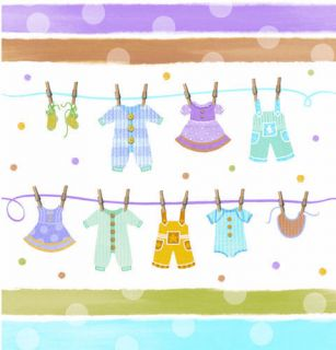 Baby Shower Party Tiny Baby Clothes Theme Plastic Table Cover Cloth