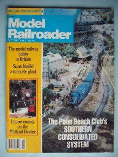 MODEL RAILROADER OCTOBER 1981 ELECTRIC TRAINS HOBBY MAGAZINE BRITAIN