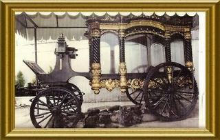 Antique Large Horse drawn Funeral Carriage Hearse C1880