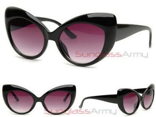 OverSized Cat Woman CATEYE Sunglasses BLACK vintage retro urban