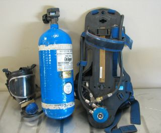 Draeger SCBA Airboss Evolution Air Pack Model PA 90 with Cylinder and