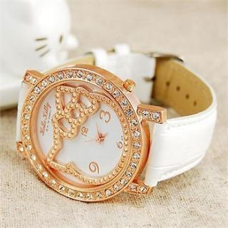 Big dial lovely hellokitty Girls Ladies Wrist Watch Quartz Fashion