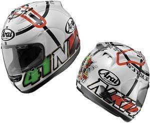 Arai Corsair V Haga Monza 2 White Large (59~60 cm) Full Face Helmet