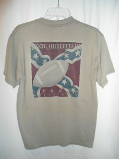 DIXIE OUTFITTERS SOUTHERN FOOTBALL ~ ADULT MEDIUM T SHIRT ~ Excellent