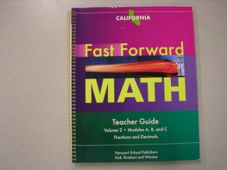 Fast Forward Math Teacher Guide Volume 2 California Harcourt ISBN