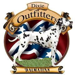 Dixie Outfitters Dalmatian T Shirt S M L XL Rebel Flag