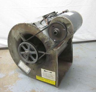 Emerson 1 1/2 Hp Squirrel Cage Fan Blower Exhaust 3 Ph Belt Driven