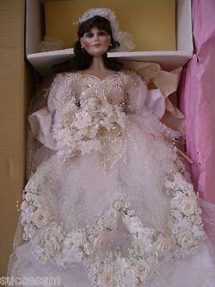 Franklin Mint Maryse Nicole VANESSA PORCELAIN BRIDE DOLL Pristine NIB