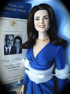 Franklin Mint KATE MIDDLETON ROYAL ENGAGEMENT DOLL COA