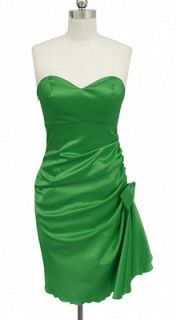 BL1092 EMERALD GREEN SIDE PLEATED STRAPLESS PADDED BRIDESMAID PARTY